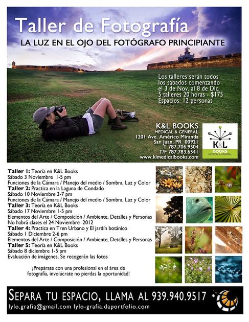 TALLER DE FOTOGRAFÍA LA LUZ EN EL OJO DEL FOTÓGRAFO PRINCIPIANTE